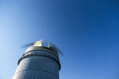 Astronomical Observatory under the night sky stars stock photography