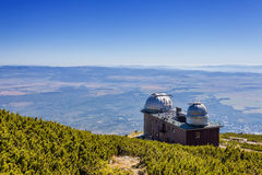 The astronomical observatory and weather station Stock Photography