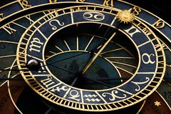 Astronomical prague clock. Czech Pražský orloj Stock Image