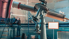 Astronomical Pulkovo Observatory. Astronomical observatory telescope at the Pulkovo observatory stock video