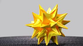 Astronomical stellated paper figure. Celestial body origami. Japanese art Kusudama stock video footage