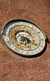 Astronomical ta tid på på väggstadshus Arkivfoto