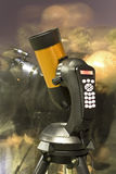 Astronomical telescope. With automatic control Royalty Free Stock Photos