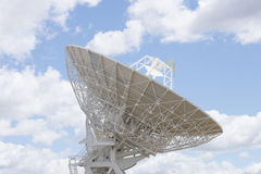 Astronomical telescope dish with blue sky Royalty Free Stock Photography