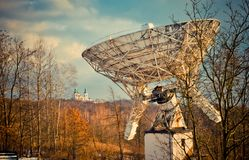Astronomical telescope and the monastery, Poland Royalty Free Stock Image