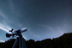 Astronomical Telescope night sky constellation Ursa Major, Ursa royalty free stock photo
