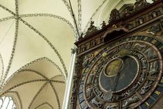 Astronomical watch Saint Mary Church Rostock Stock Photography