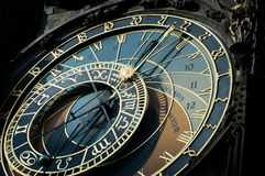 astronomical zodiac för klockaprague tecken Royaltyfri Bild