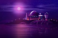 Astronomiczny obserwatorski teleskop kreskówki wektor royalty ilustracja