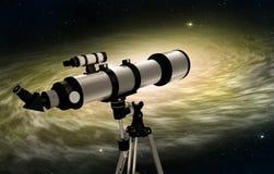astronomiczny teleskop royalty ilustracja