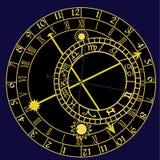 astronomiczny zegar royalty ilustracja