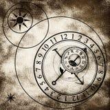 astronomiczny zegar ilustracja wektor