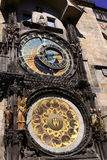 Astronomiczny zegar na Praga obraz royalty free