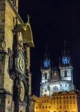 Astronomiczny zegar na Starym rynku w Praga, republika czech Fotografia Stock