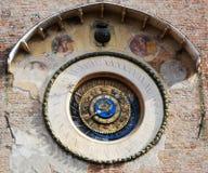 Astronomiczny zegar w Mantova obrazy stock