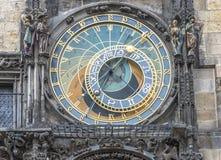 Astronomiczny zegar w Praga fotografia royalty free