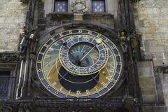 Astronomiczny zegar w Praga, CZ Zdjęcie Royalty Free