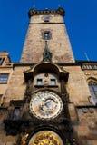 astronomiczny zegarowy orloj Prague Obraz Royalty Free