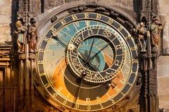 astronomiczny zegarowy orloj Prague Zdjęcia Royalty Free
