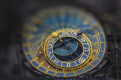 Astronomiczny Zegarowy Orloj w Praga zdjęcie stock