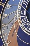 astronomiczny zegarowy szczegół Prague Obraz Royalty Free