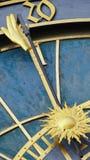Astronomiczny Zegarowy wierza szczegół w Starym miasteczku Praga, republika czech Astronomiczny zegar tworzył w 1410 zegarmistrze Fotografia Stock