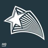 Astronomie conceptuele illustratie, pentagonale komeetster - celes royalty-vrije illustratie