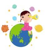 Astronomie für Kinder stock abbildung