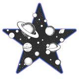 Astronomie kritzelt Konzept Kosmosillustrationen des Vektors eps10 stock abbildung