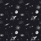 Astronomie naadloos patroon royalty-vrije illustratie