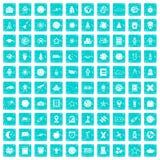 100 Astronomieikonen stellten Schmutz blau ein Lizenzfreie Stockbilder