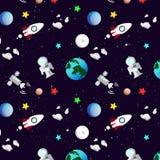 Astronomii, galaxy i przestrzeni wzór z gwiazdami, rozprasza błyszczących abs ilustracja wektor