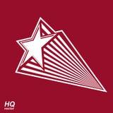 Astronomii konceptualna ilustracja, pięcioboczna komety gwiazda - celes Obraz Stock