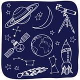 astronomii noc protestuje niebo przestrzeń Obrazy Stock