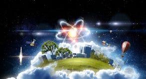 Astronomii pojęcia tło świadczenia 3 d Zdjęcie Royalty Free