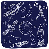 astronominatten objects skyavstånd stock illustrationer