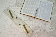 Astronomisch Boek op Grafiek Stock Foto