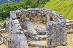 Astronomisch Waarnemingscentrum, Machu Picchu, Peru stock afbeelding