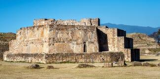 Astronomisch Waarnemingscentrum, ruïnes van van Monte Alban - Oaxaca, Mexico stock foto