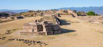 Astronomisch Waarnemingscentrum, ruïnes van van Monte Alban - Oaxaca, Mexico stock fotografie