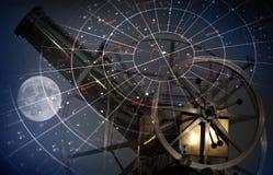 Astronomische abstracte achtergrond Stock Foto