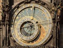 Astronomische Borduhr in Prag Stockfotos