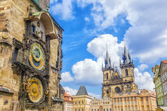 Astronomische Borduhr in Prag, Tschechische Republik Stockfotografie