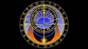 Astronomische klok stock video