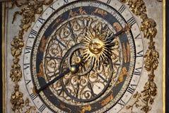 Astronomische klok (close-up) Stock Afbeeldingen