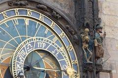 Astronomische Klok Oude Stad Hall Tower, Praag royalty-vrije stock foto's