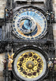 Astronomische Klok - Praag Stock Afbeeldingen