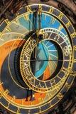 Astronomische klok in Praag stock foto