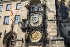 Astronomische klok in Praag, Tsjechische republiek stock foto's