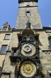 Astronomische klok in Praag, Tsjechische republiek Royalty-vrije Stock Foto's